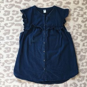 Old Navy Denim Top with Ruffle Sleeve Detail